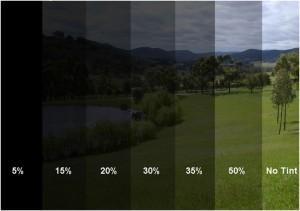 Window Tinting Level shades